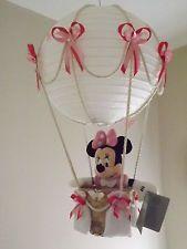 Hot Air Balloon Lamp Light Shade Minnie Mouse Pink Minnie