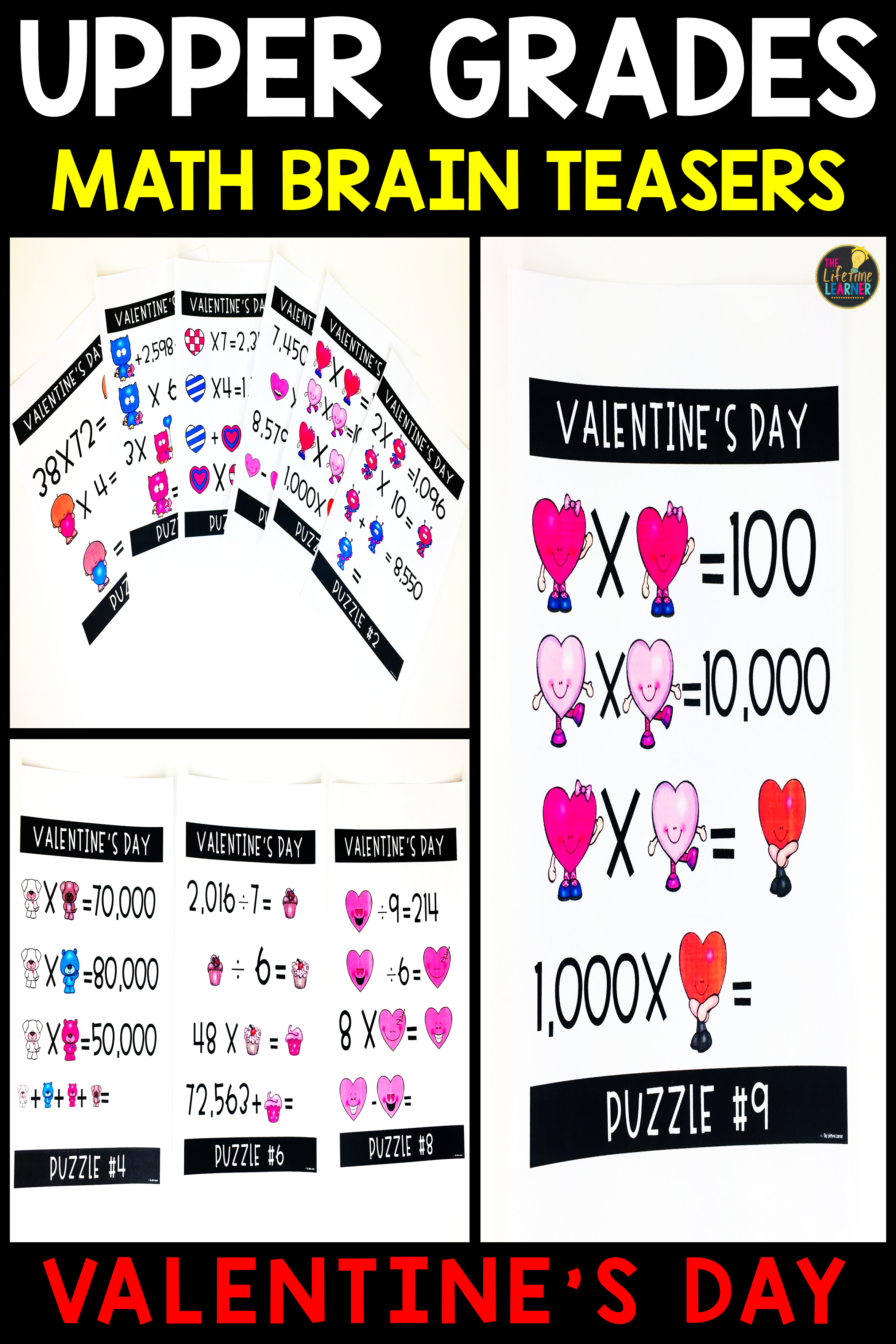 Upper Grades Valentine S Day Brain Teasers With Images