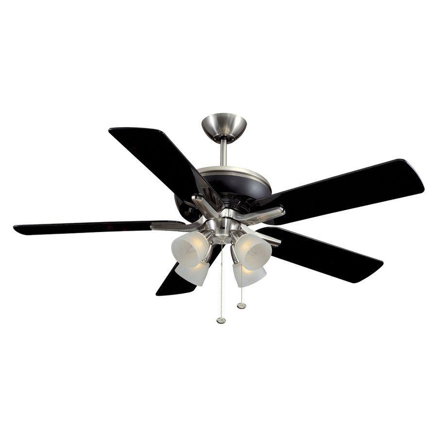 Shop harbor breeze 52 tiempo brushed nickel ceiling fan with shop harbor breeze 52 tiempo brushed nickel ceiling fan with light kit at lowes aloadofball Gallery