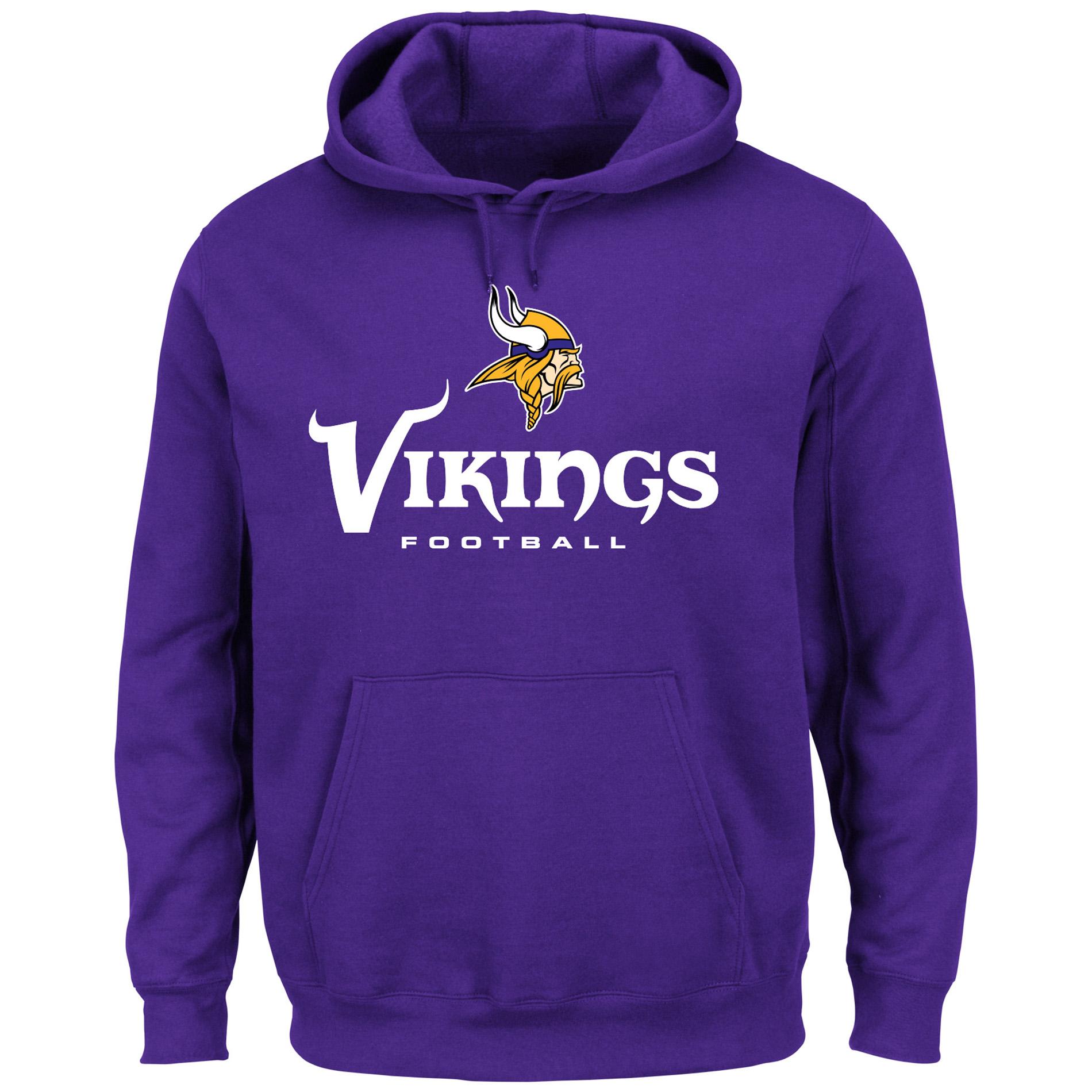 NFL Menâ s Logo Hoodie Minnesota Vikings, Size Medium