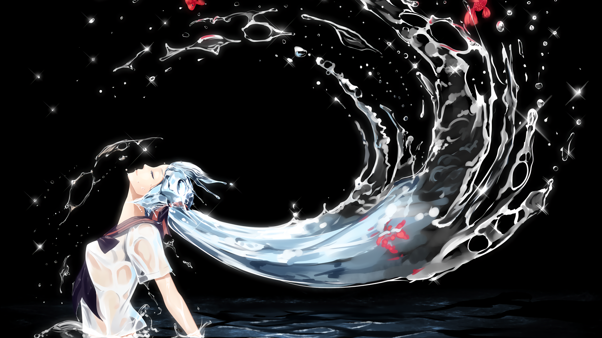 Fish in Her Hair [Vocaloid][1920x1080] Need #iPhone #6S #Plus #Wallpaper/ #Background for #IPhone6SPlus? Follow iPhone 6S Plus 3Wallpapers/ #Backgrounds Must to Have http://ift.tt/1SfrOMr