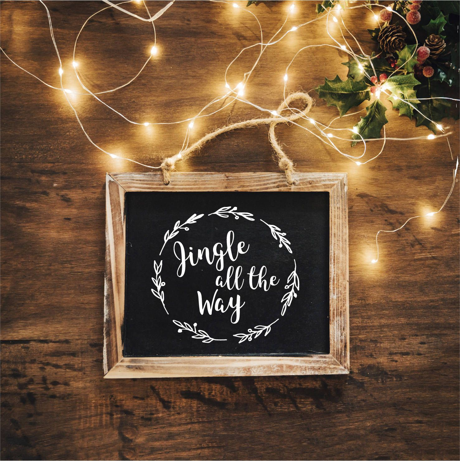 Christmas Decal Jingle All The Way Quote Xmas Vinyl Sticker Christmas Decoration White Decal Decor Chalkbo Christmas Decals Chalkboard Decor Jingle All The Way