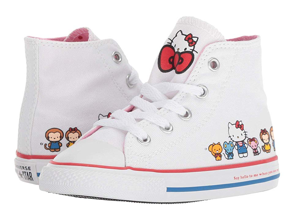 8018212e2391e8 Converse Kids Hello Kitty(r) Chuck Taylor(r) All Star(r) Hi (Infant Toddler)  Girls Shoes White Pink Prism