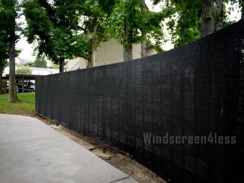 Fit For 4 Tall Fence 50 Long Black Privacy Screen Windscreen Fabric Mesh W Brass Fence Screening Privacy Fence Screen Fence Planning