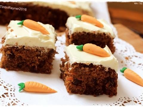 Resep Carrot Cake Palm Sugar Enakkkkk With Creamcheese Frosting Kocok All In One Oleh Tintin Rayner Resep Kue Wortel Wortel Gula