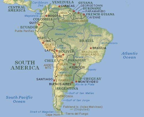 Mapa De Sudamérica Completo Mapa Político Y Físico De América Del Sur Mapa Politico Mapa De America Del Sur Sudamerica
