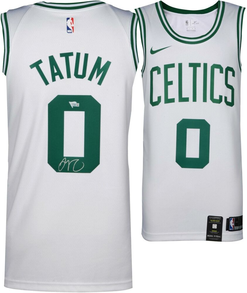 competitive price deabc 51e10 Jayson Tatum Boston Celtics Autographed Nike White Swingman ...