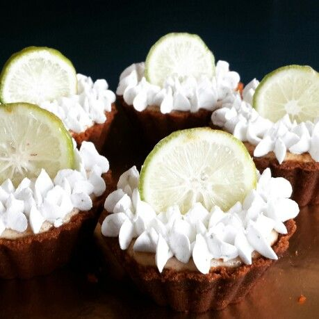 Ginger key lime tarts