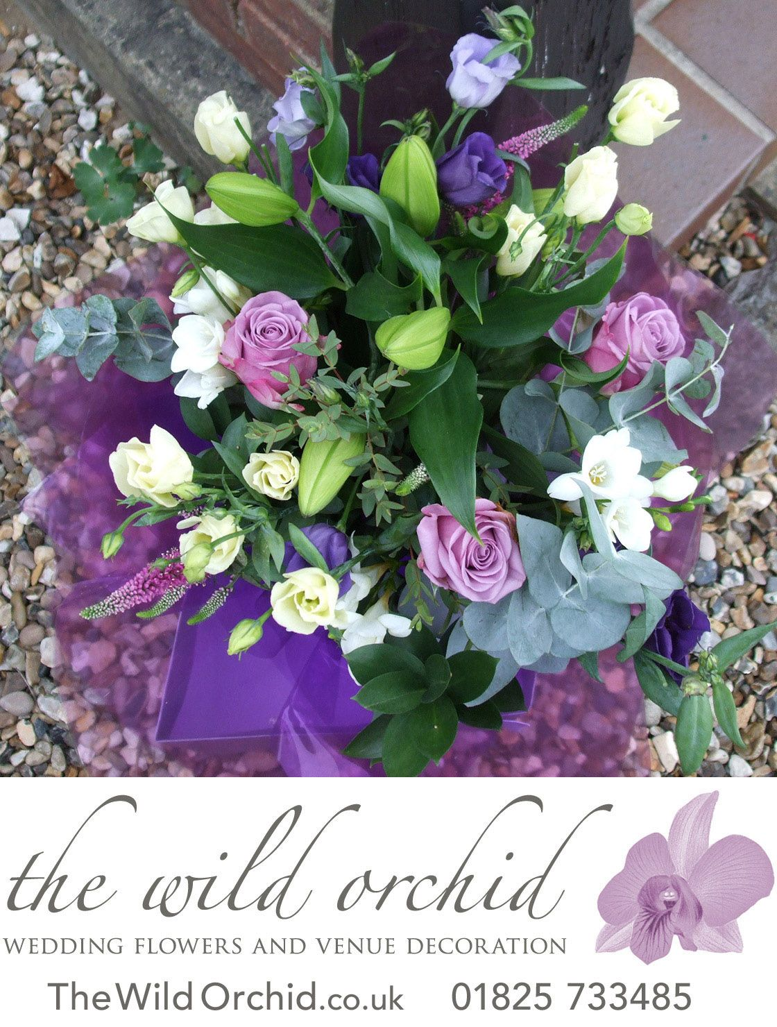 A Thank You Bouquet Of Flowers For Presentation To Mum During The