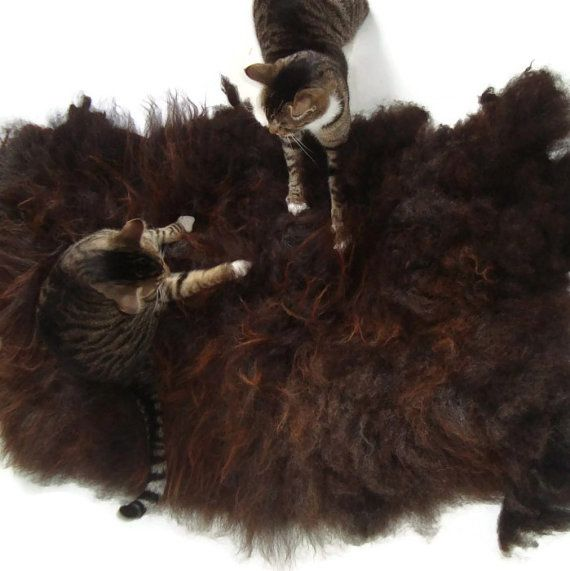 Cat Bed Sheep Friendly Cruelty Free Pet Mat Wool Fleece Felted Rug Large Black Shetland Supporting Small Farms Of The Usa Cat Bed Pet Mat Animal Free