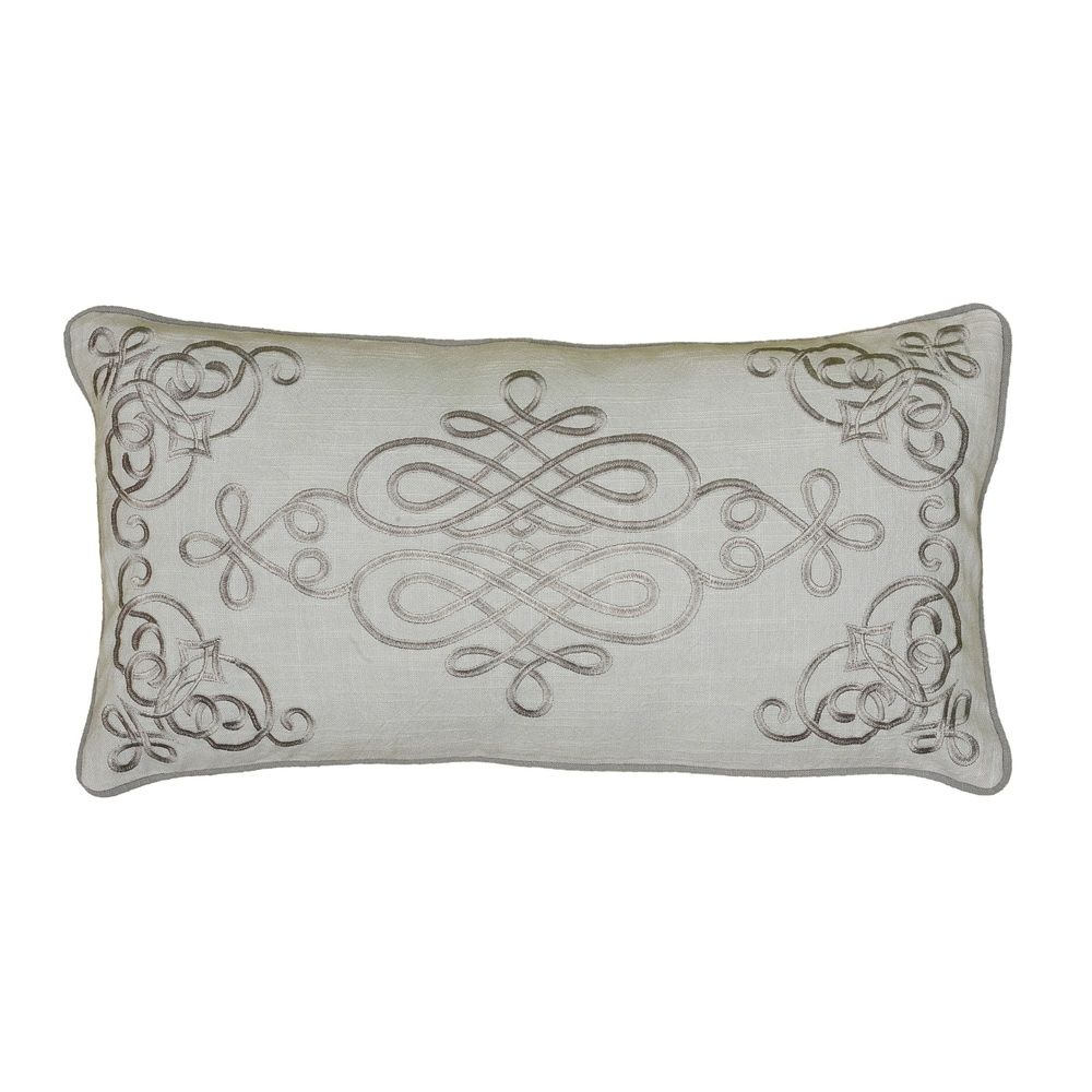 Rizzy Home 11 Inch X 21 Inch Embroidered Medallion Decorative Throw Pillow 11 X 21 Embroidered Medallion Decorative Pillow Gray Cotton In 2020 Throw Pillows Decorative Throw Pillows Pillows