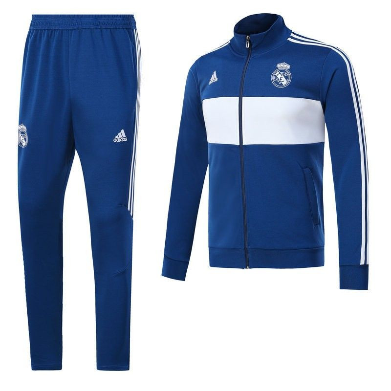 Descubrir al por mayor minorista online survetement slim foot Real Madrid Bleu 2017/2018 | Chandals ...