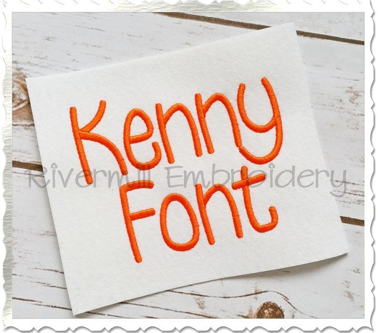 $3.95Kenny Machine Embroidery Font