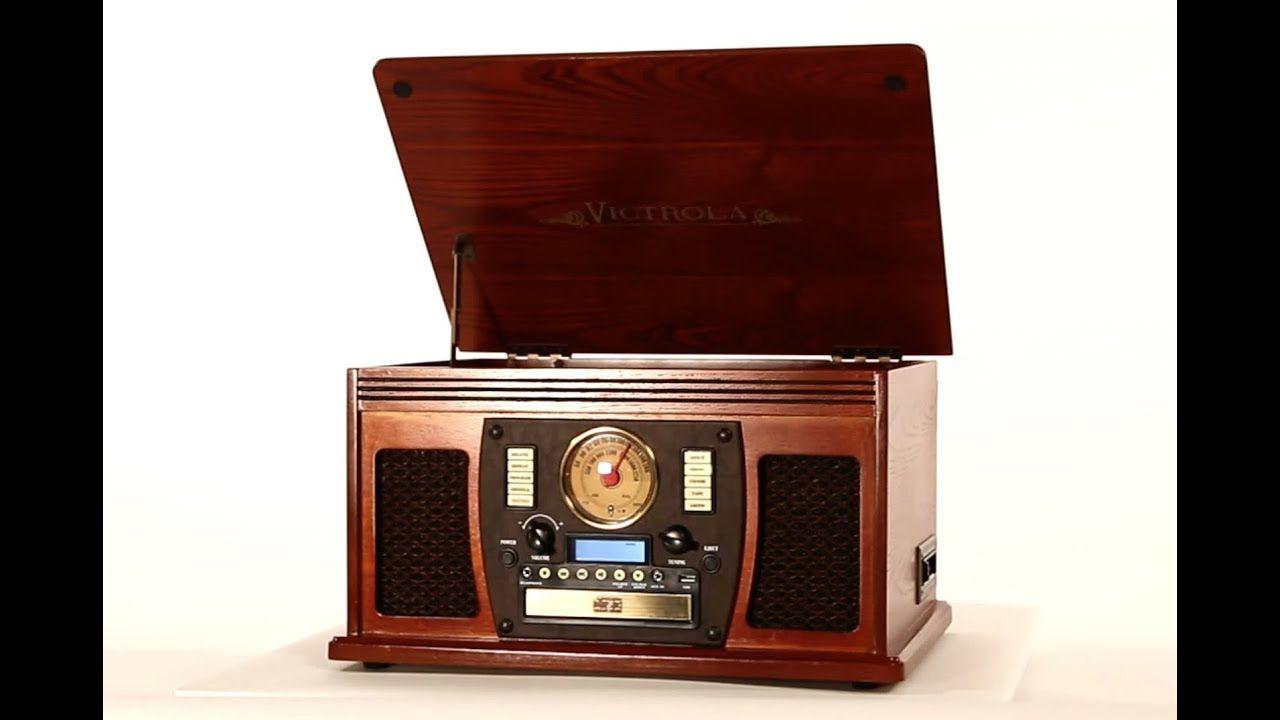 8in1 wooden music center vta600b vinyl player old