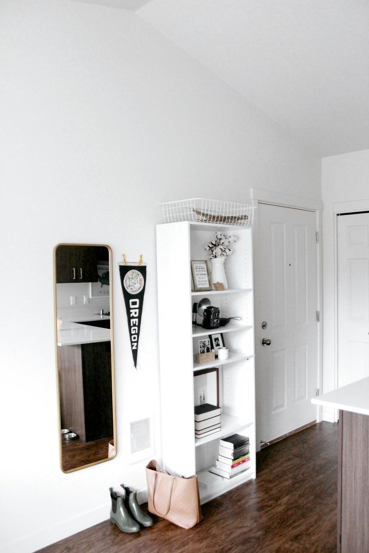 White Minimalist Home Apartment Entryway | @britteaustin