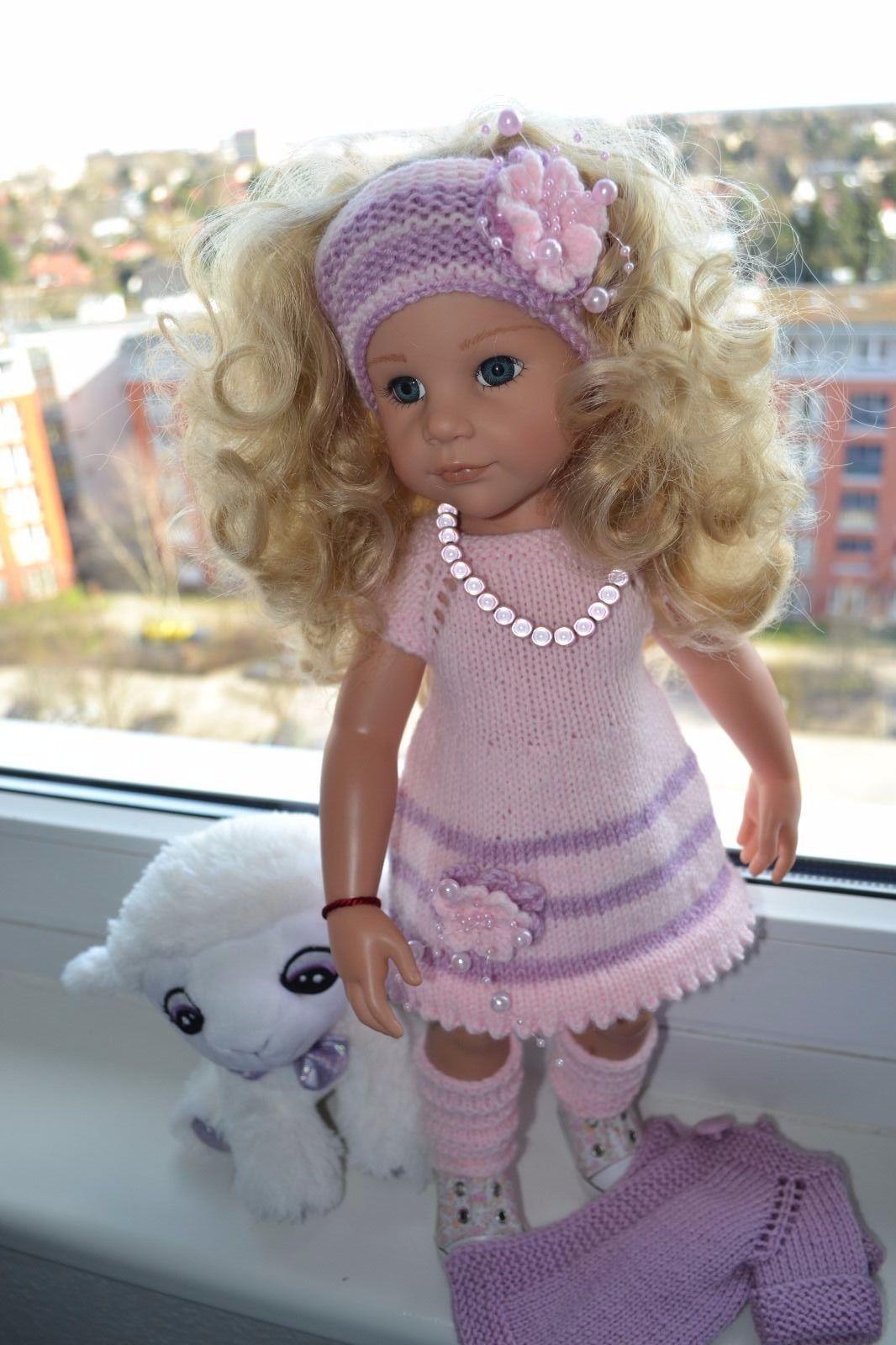 Hübsches 5tlg. Puppenkleidungs Set für 4550 cm Götz