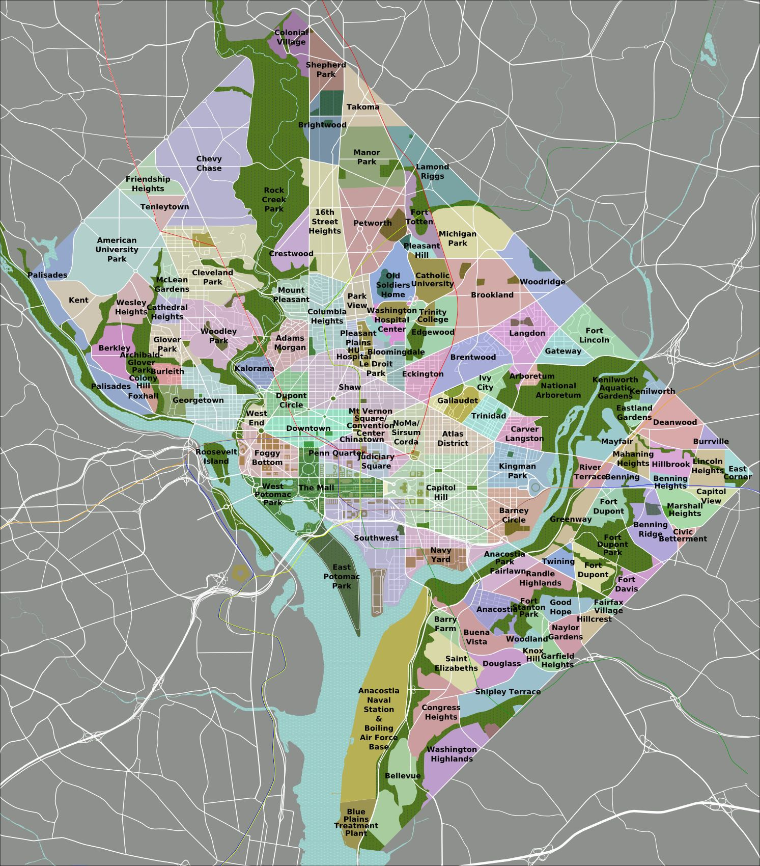 Thrillist Just Created The Most Accurate DC Metro Map Ever - Washington dc gis map