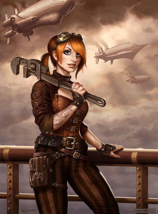 Fantasy Art Steampunk Engineer