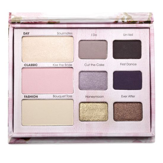 A collection of 9 feminine eyeshadows ranging from soft pearl to rich matte that make up a perfect palette for everyday special occasions. This palette contains pigment-rich, high performing shadows that offer an  essential range of hues and textures from velvety mattes to silky shimmers. Comes with 3 Glamour Guides, Too Faced signature how-to lesson cards that offer step-by-step application instructions for creating romantic inspired  eyes in minutes.  Soulmates: Shimmering Nectar Kiss ...