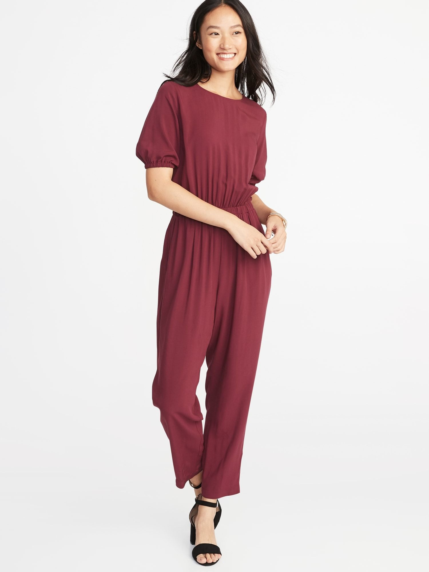 8151f1e45e77e Waist-Defined Balloon-Sleeve Jumpsuit for Women in 2019 | Willow's ...