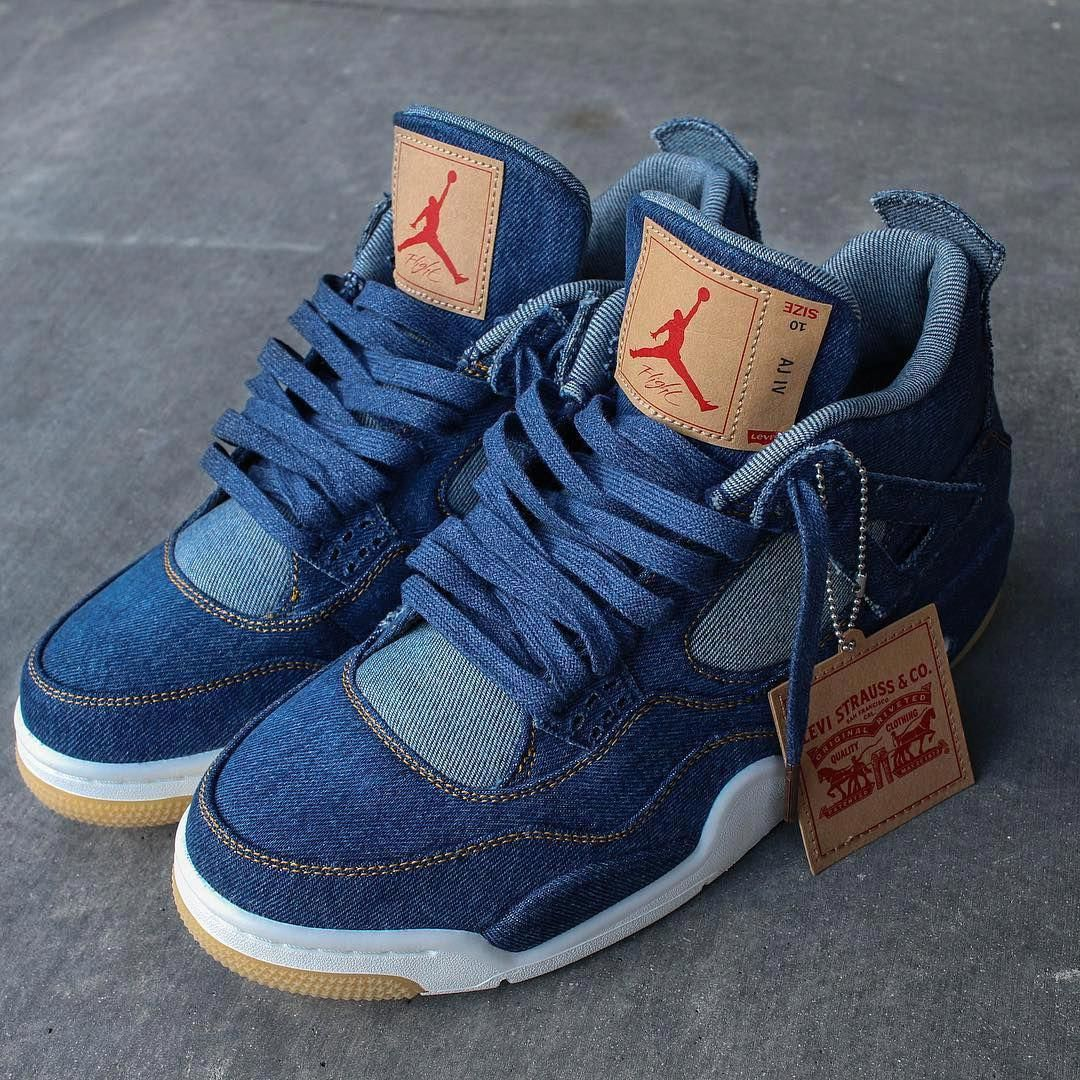 "Levis Air Jordan 4 ""Denim"" MensFashionSneakers Denim"