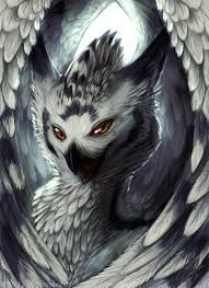 Snowy Owl Griffin Mythical Creatures Art Mythical Creatures Fantasy Beasts