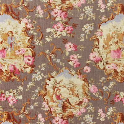 tissu lin avec motif toile de jouy linen lambert 1 lin prune toile de jouy pinterest. Black Bedroom Furniture Sets. Home Design Ideas