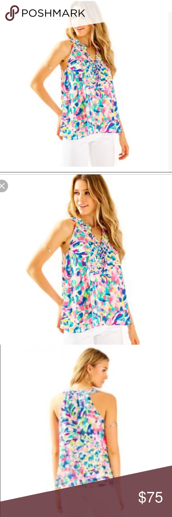 d18b7c55c1d923 NWT Lilly Pulitzer Achelle Top in Pina Colada Club NEw with Tags! Lilly  Pulitzer Achelle