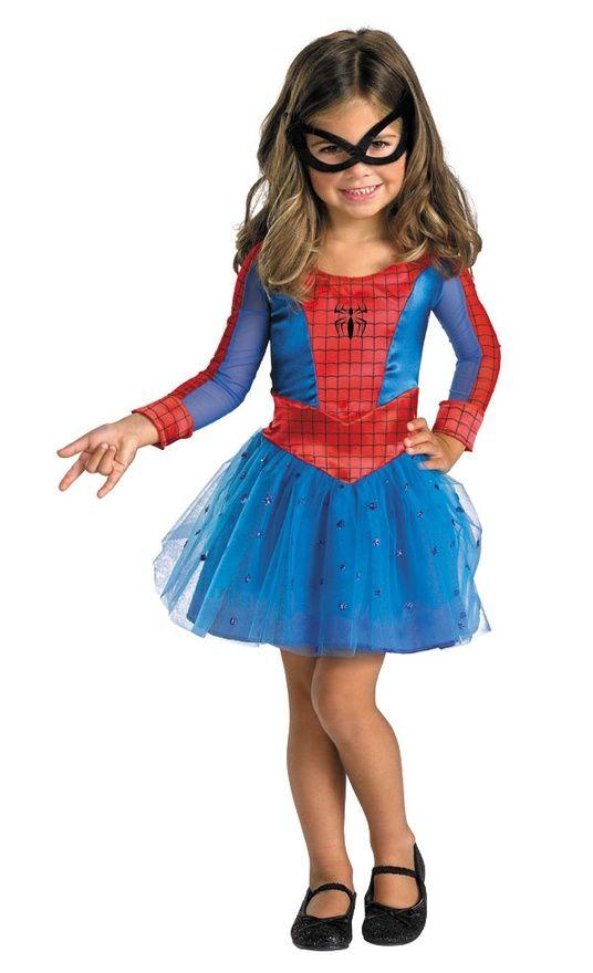 PINK SPIDERGIRL Ragazze Costume Spiderman Supereroe Bambini Bambino Costume Outfit
