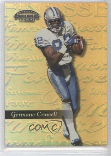 Germane Crowell #11/25 Detroit Lions (Football Card) 1999 Playoff Contenders SSD Finesse Gold #27 by Playoff Contenders SSD. $25.00. 1999 Playoff Contenders SSD Finesse Gold #27 - Germane Crowell