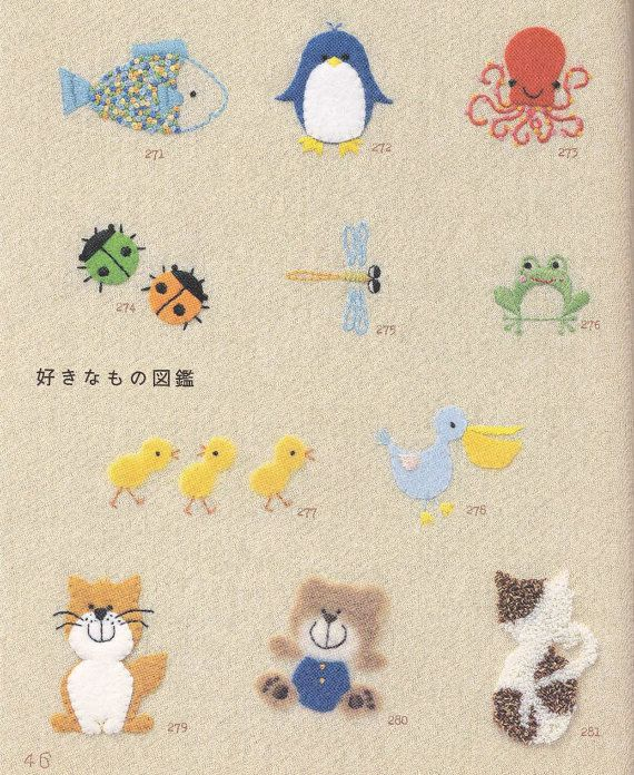 365 Hand Embroidery Patterns For Kids Japanese Embroidery