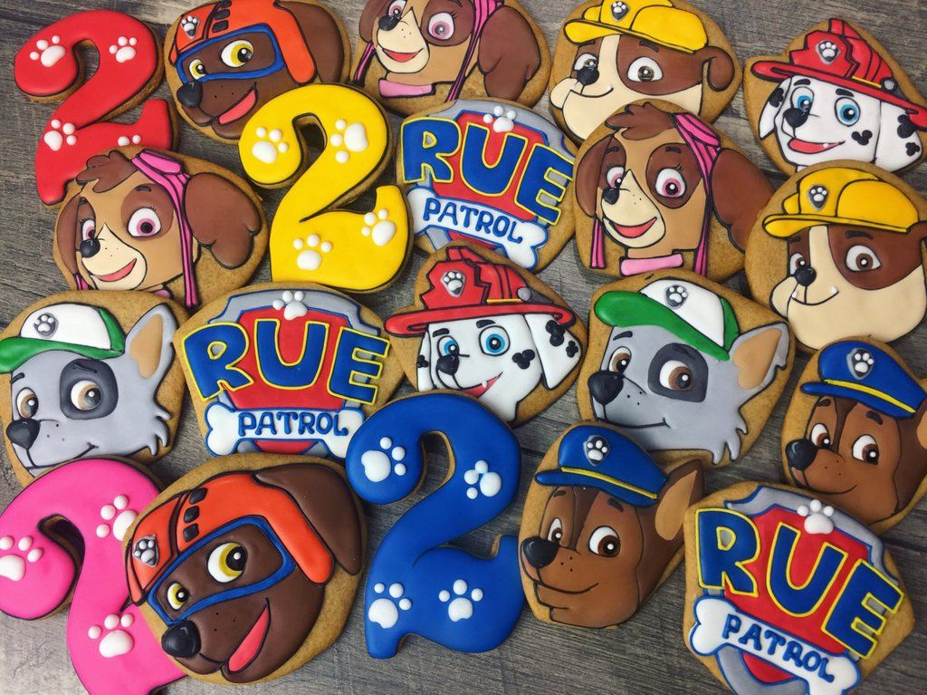 Paw Patrol Birthday Party Sugar Cookies