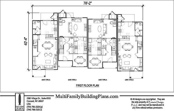 Amazing Multi Unit Apartment Floor Plans Contemporary - Flooring ...
