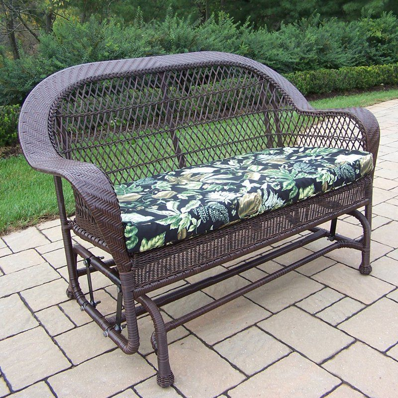 Oakland Living Coventry Wicker Outdoor Glider Loveseat ... on Outdoor Living Wicker id=16085