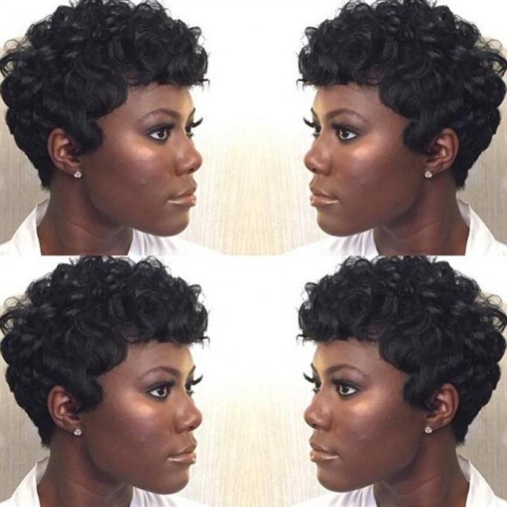 1pc 12cm Synthetic Short Wigs For Black Women African American Hair Ju14 Drop Shipping