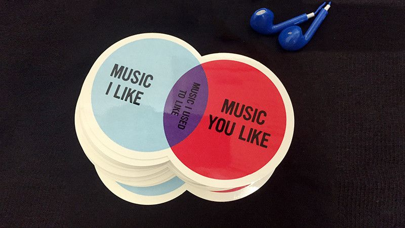 Music Elitism Venn Diagram Stickers Venn Diagrams And Diagram