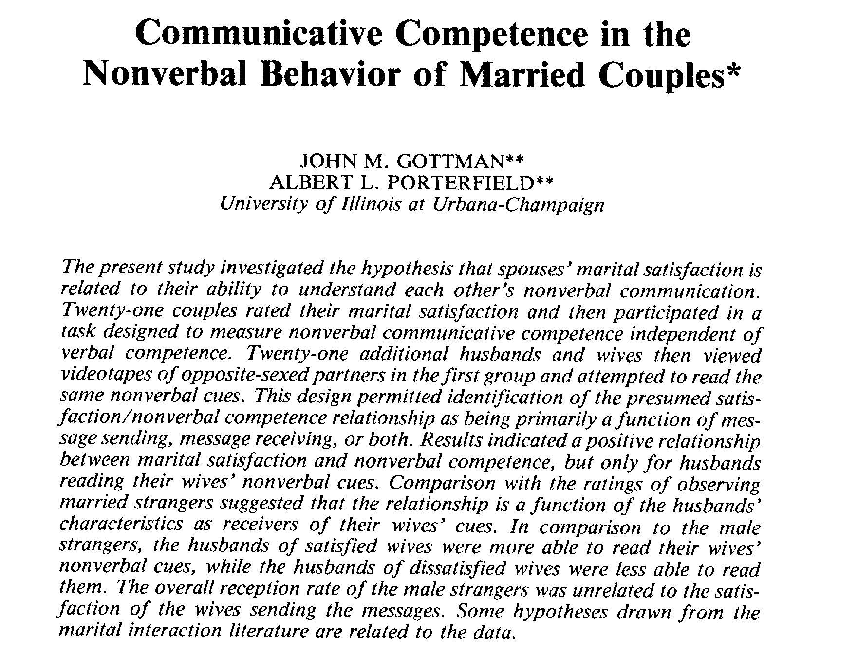interpersonal communication topics for research paper