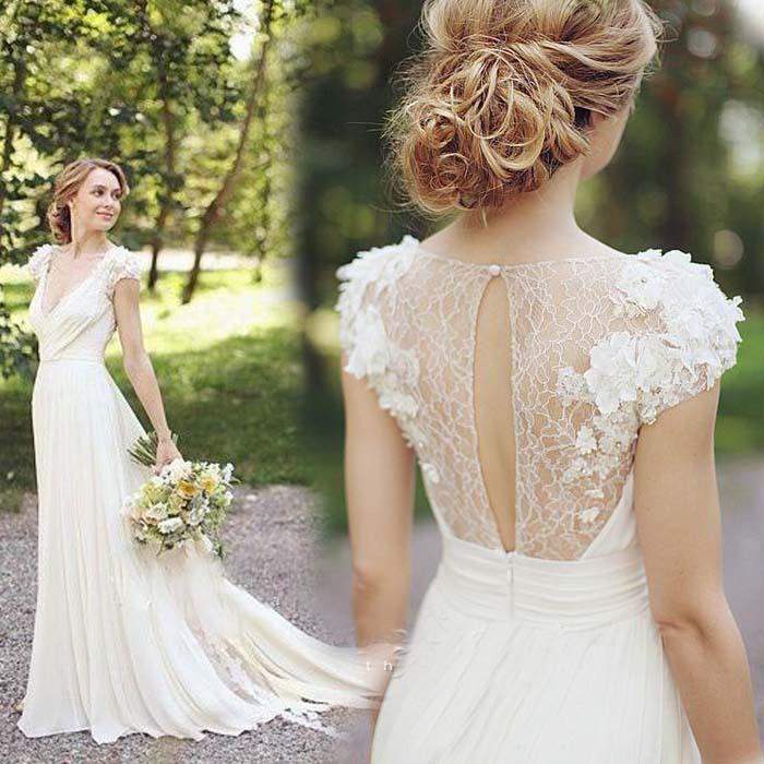 wedding dress chiffon back - Google Search