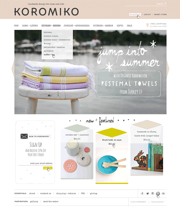 Online Design Store on Shopify Koromiko Handmade