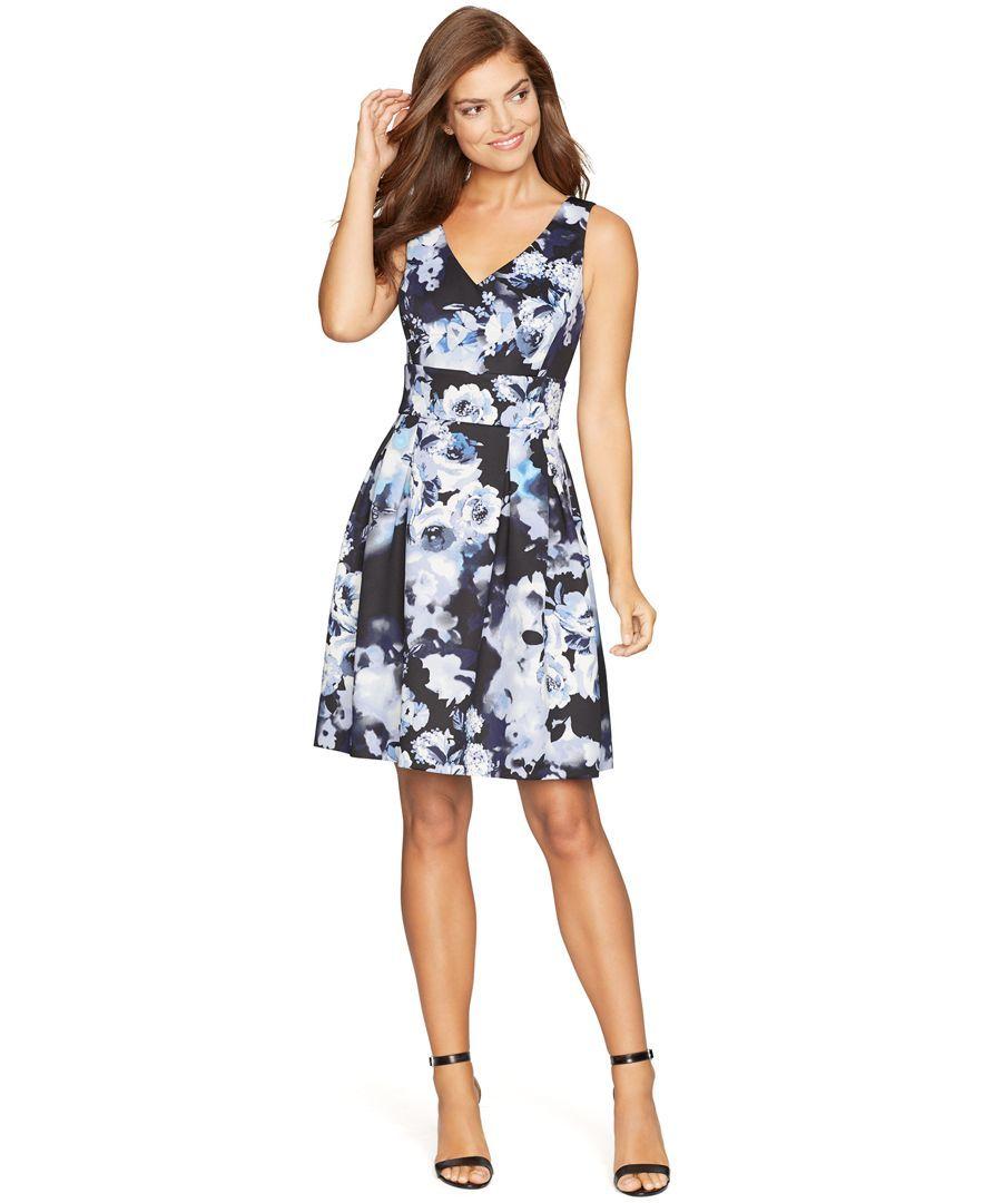 Macys womens dresses wedding  American Living FloralPrint Pleated Dress  Robes  Pinterest