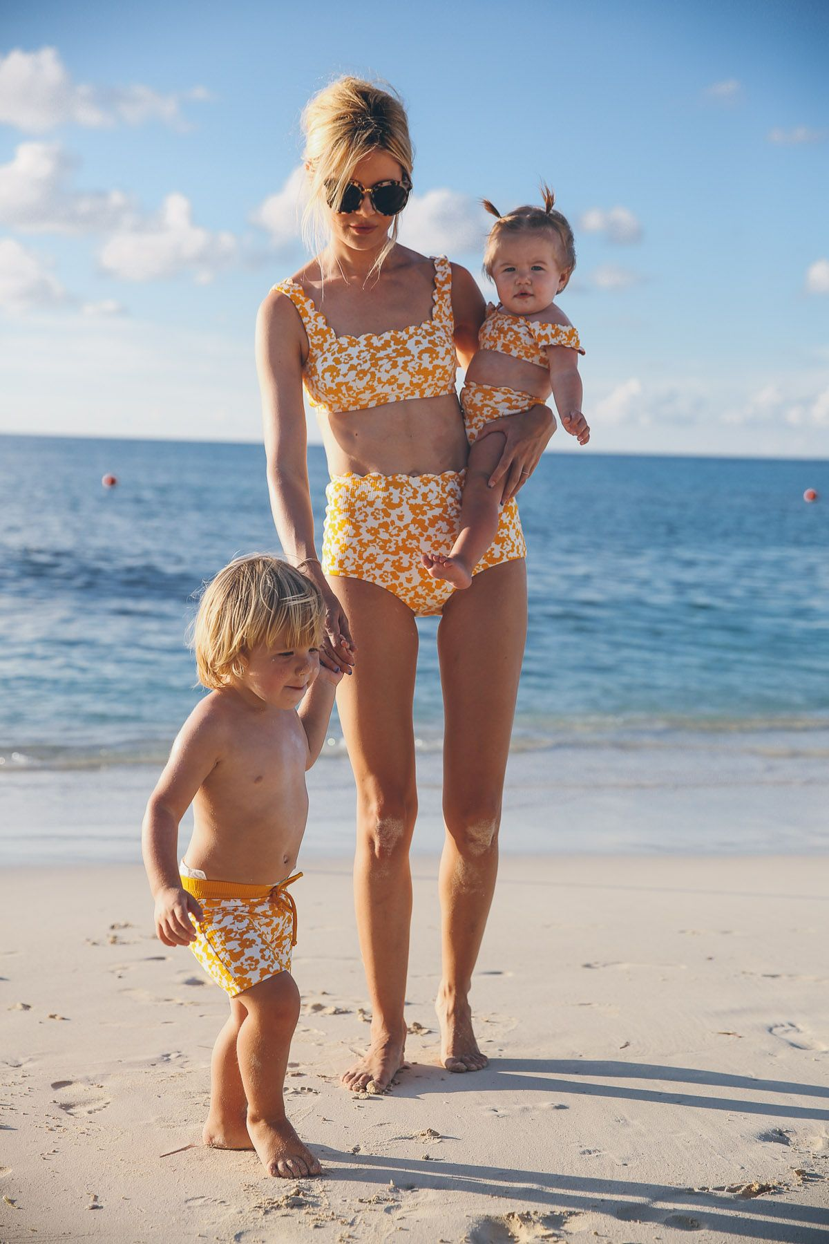 f9bb6539df273 Matching Swimsuits in The Bahamas | Mama & Child | Mommy, me ...