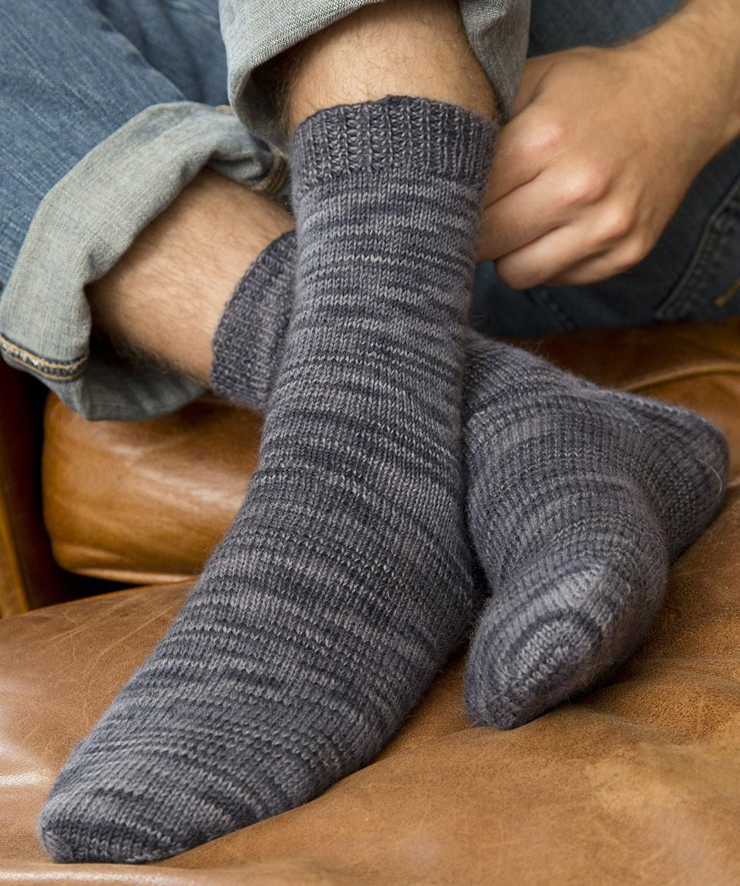 Socks for Him Free Knitting Pattern from Red Heart Yarns | Knitting ...
