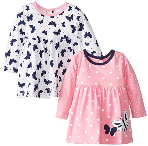 c23d35ba1208 Little Me Baby-Girls Infant Butterfly 2 Pack Tunics