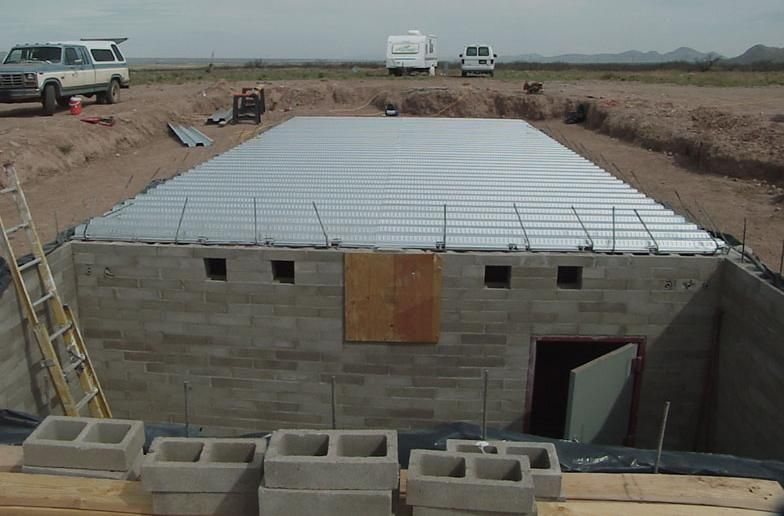 Corrugated Steel Supported Poured Concrete Garage Floor Structural