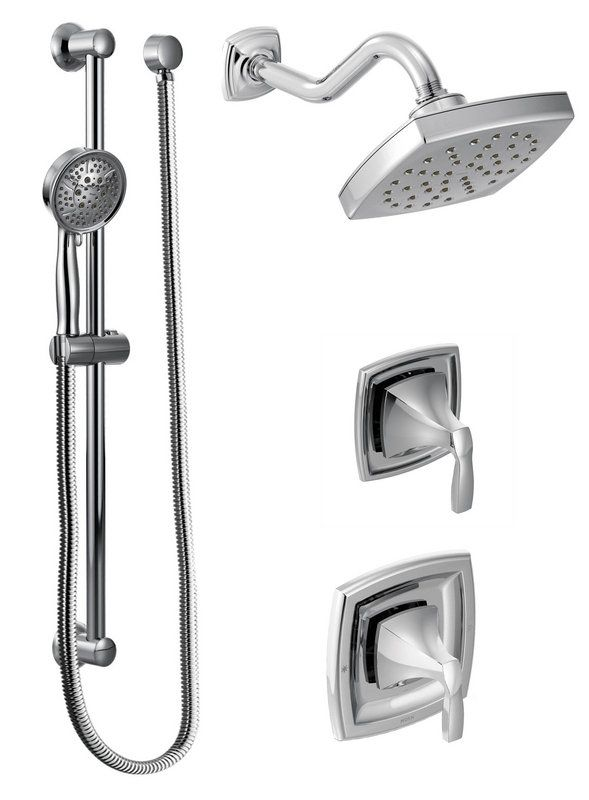 592 86 In Chrome Moen 435 Pressure Balanced Shower System With Rain Integrated Volume