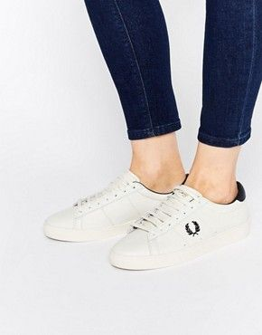 eaaa5343e47 Fred Perry - Spencer - Baskets en cuir - Blanc marine | Outfits in ...