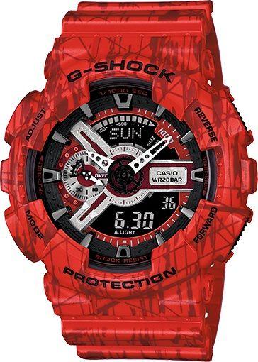 447a9de67 G-Shock Men Red Analog/Digital Watch GA110SL-4ACR Our Price:$119.95  ewatchesusa.com