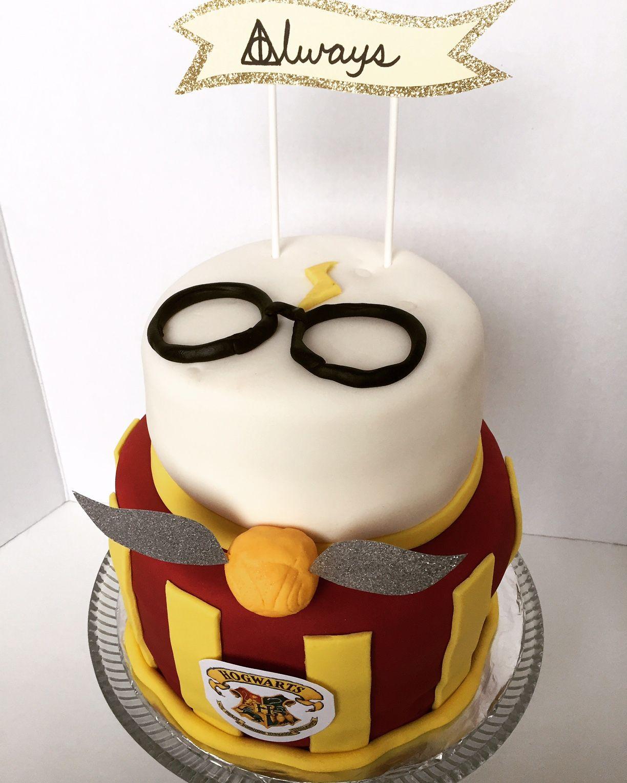 Harry Potter Themed Bridal Shower Cake
