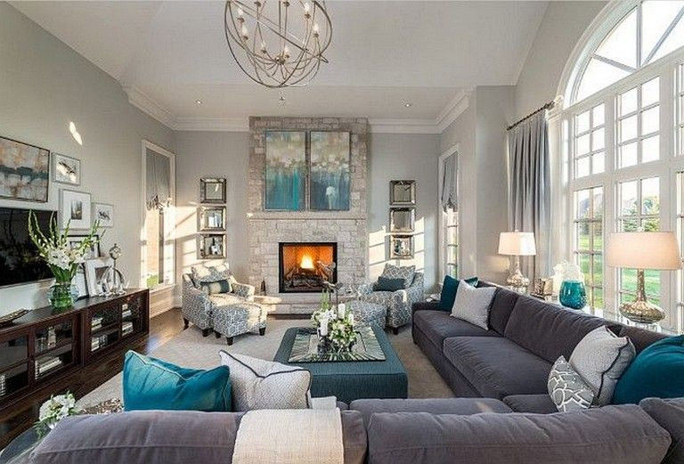 77 Prime Ideas To Decorate Your Living Room With Turquoise Accents