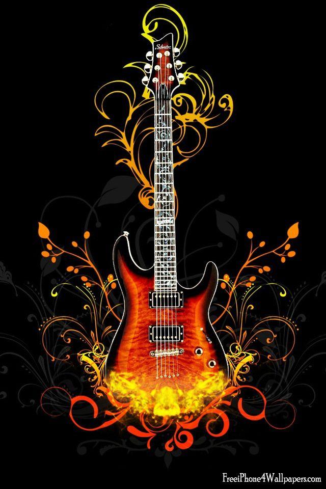 Fire Guitar Music Wallpaper Guitar Art Guitar